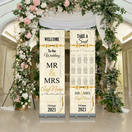 Wedding Roller Banner N3 - Welcome to our Wedding / Table Seating Plan